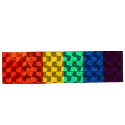 Rainbow Strip Reflective Sticker