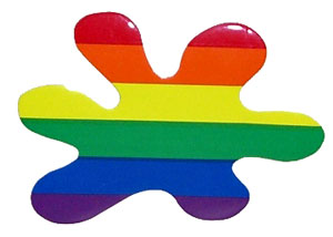 Rainbow Splat Sticker