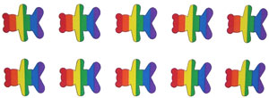 Rainbow Bear  (10 per Sheet) Stickers