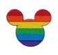 Rainbow Mouse Head Stickers
