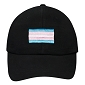 Transgender Flag Embroidered Black Cap / Hat