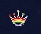 Rainbow CROWN Lapel Pin