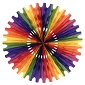 Rainbow Tissue Fan