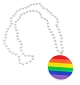 Rainbow Pendant Bead Necklace