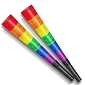 Rainbow Pride Horns (10 pack)