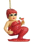 Strawberry Mermaid Ornament