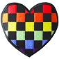 Rainbow Checker Heart Patch