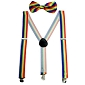 Rainbow Bowtie / Suspender Set