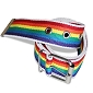 Rainbow Cotton Buckle Belt