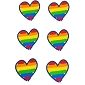 Rainbow Brushstroke Hearts Sticker