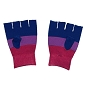 Bi Pride Fingerless Knit Gloves
