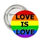 Rainbow Love Is Love Button