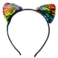Rainbow Sequin Ears Headband