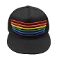 Rainbow Embroidered Stripes Black Cap / Hat