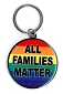 All Families Matter Metal Key Chain