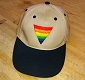 Rainbow Triangle Embroidered Khaki & Black Cap / Hat