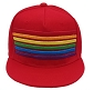 Rainbow Stripes Red Cap