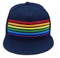 Rainbow Stripes Navy Cap