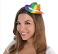 Rainbow Glitter Mini Cowboy Hat