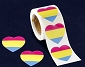 Pansexual Heart Stickers (250 stickers)