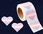 Transgender Heart Stickers (250 stickers)