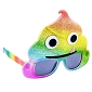 Rainbow  Smilie Poop Emoji Sunglasses