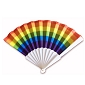 Rainbow Horizontal Stripes Fan