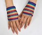 Rainbow Fishnet Fingerless Half Gloves