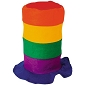 Rainbow Stove Pipe Hat