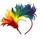 Rainbow Feather Fansinator / Headband