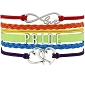 LGBT Rainbow Wrap Bracelet w/ Infinite Love & Heart Charms