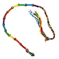 Rainbow String Knotted Bracelet