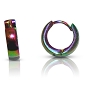 Rainbow Hoop/Huggie Stainless Steel Earrings