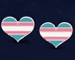 Trans Pride Heart Earrings