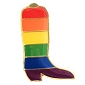 Rainbow Boot Lapel Pin