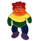Rainbow Bear (Standing) Lapel Pin