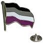 ASexual Wavy Flag Lapel Pin