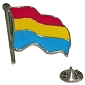 Pansexual Wavy Flag Lapel Pin