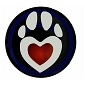 Puppy Play Paw Lapel Pin