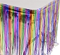 Rainbow Foil Fringe Table Skirt