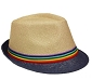 Rainbow Straw Fedora Hat