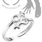 Double Female Symbol Adjustable Ring
