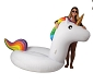 Unicorn Inflatable Float (Rainbow Mane & Tail!)
