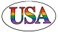 USA White Sticker