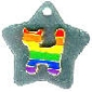 Rainbow Cat on Stainless Steel Pet Tag