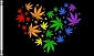 Rainbow Marijuana Heart Flag 3ft x 5ft Printed Polyester