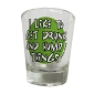 I like to Get Drunk and Hump .. Shot Glass
