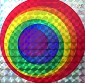 Rainbow Bullseye Reflective Sticker