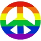 Rainbow Peace Cling Sticker