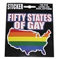 Fifty States of Gay Sticker